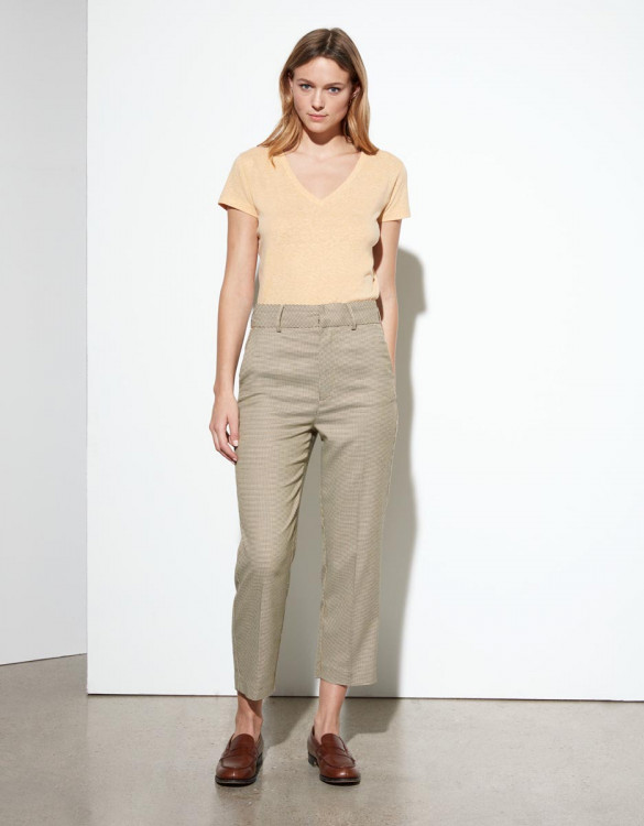 Pantalon cigarette Liv Straight Cropped - HONEYCOMB