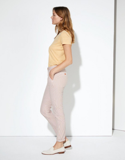 Pantalon chino Sandy Fancy - ORANGE STRIPES