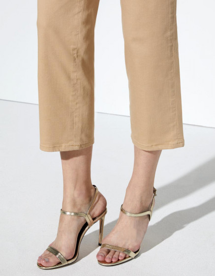 Chino trousers Sandy Highwaist Cropped - BEIGE
