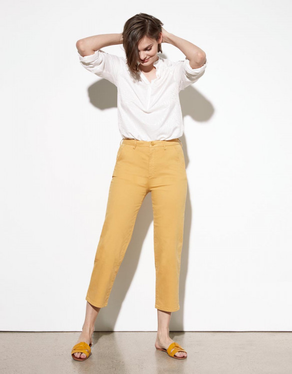 Pantalon chino Sandy Highwaist Cropped - MANGUE