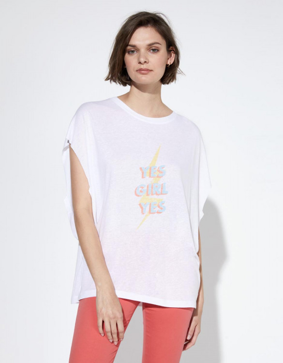 Tee-shirt Taly - WHITE CHINE