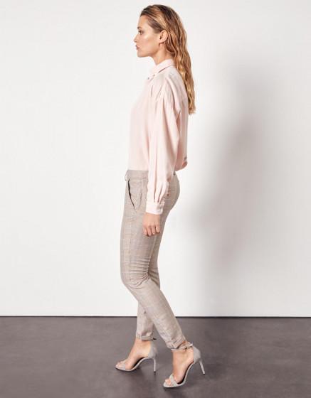 Pantalon chino Sandy Fancy - TAUPE CHECKS