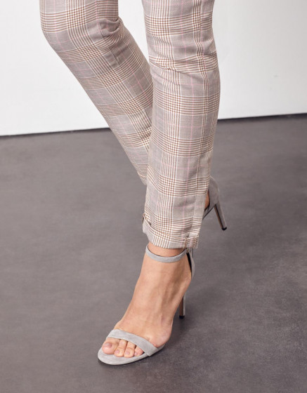 Chino trousers Sandy Fancy - TAUPE CHECKS