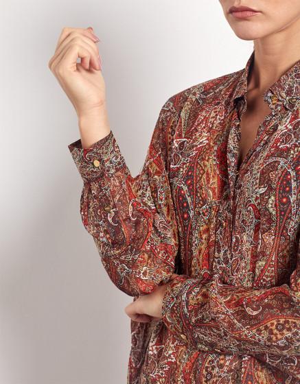 Shirt Bea Printed - ORANGE FOLK