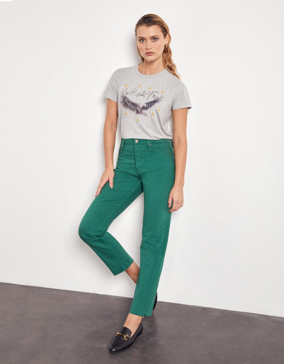 High waist cropped jeans Milo Color - GARDEN