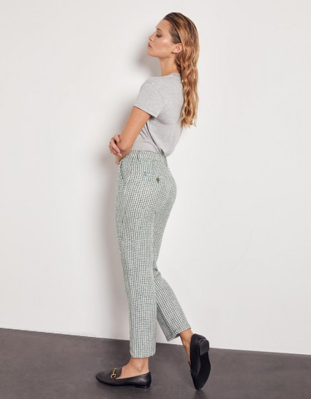 Chino high waist cropped trousers Sandy High Waist - GREEN TWEEDY