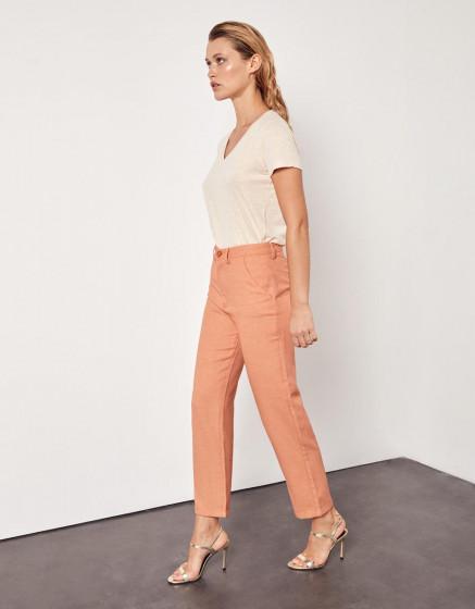 Chino high waist cropped trousers Sandy High Waist - VINTAGE GEO