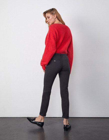 Chino trousers Sandy 2 Basic - CARBONE