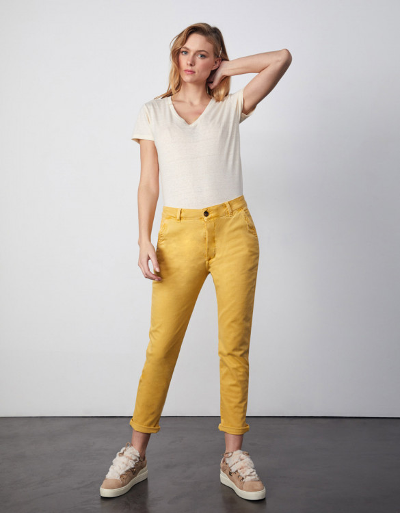 Pantalon chino Sandy Tapered - MUSTARD