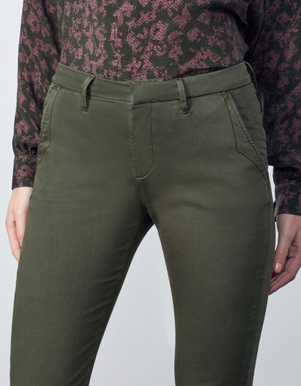 Chino trousers Sandy 2 Basic - DARK KAKI