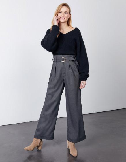 Wide trousers Gabby Fancy - BLENDED BLACK