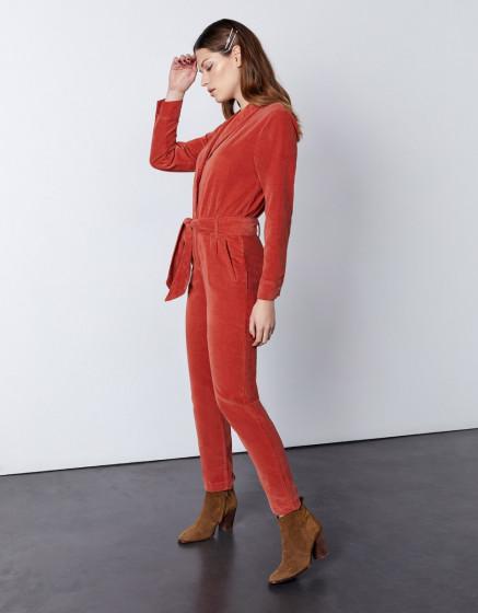 Jumpsuit Jenna Velvet - MARSALA