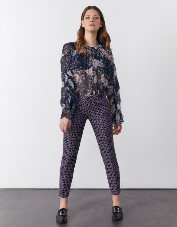 Cigarette trousers Liv Fancy - ASTRAL CIRCLES