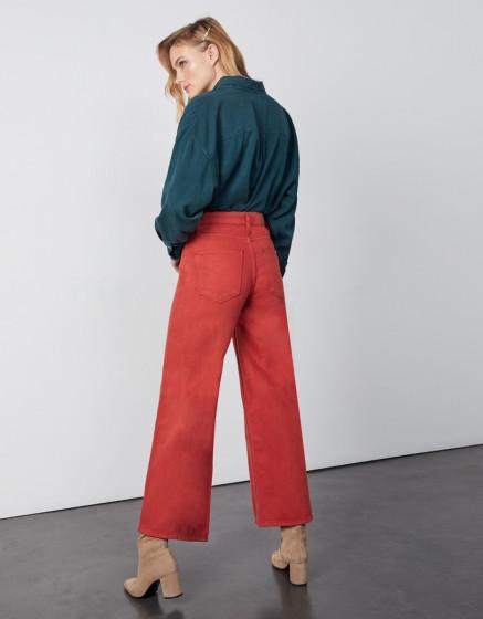 Wide jean Poppy Color - MARSALA