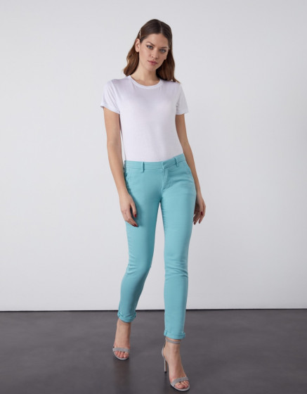 Pantalon chino Sandy 2 Basic - MISTY BLUE