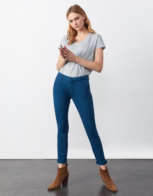 Chino trousers Sandy 2 Basic - BLUE STEEL