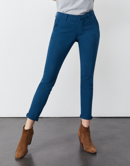 Chino trousers Sandy 2 Basic - BLUE STEEL