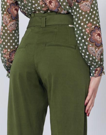 Pantalon cigarette high waist cropped Ava - KALE
