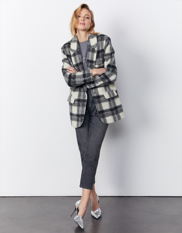Manteau Valentin - GREY CHECKS