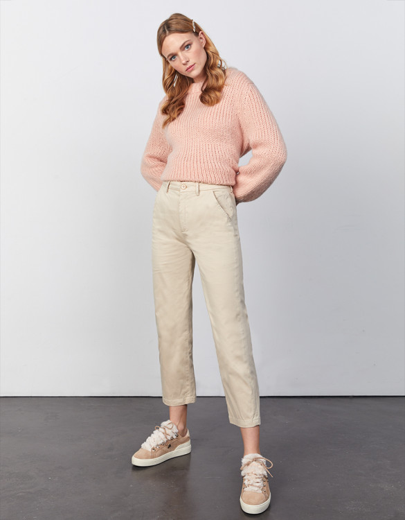Chino Sandy High Waist - LIGHT SAND