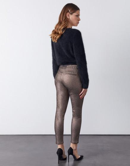 Pantalon carotte Faustine - BRONZE SHINE