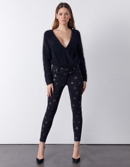 Pantalon skinny cropped Lily Stars - DNM BLACK