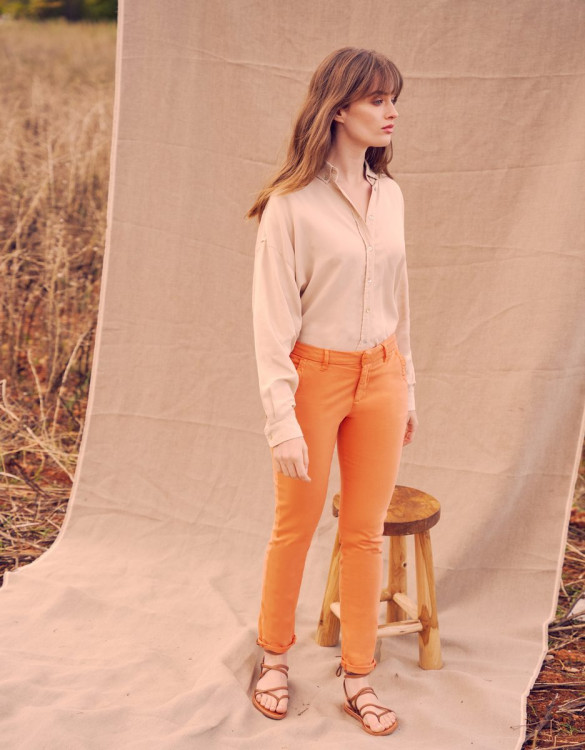 Chino Sandy Basic - ORANGE CRUSH