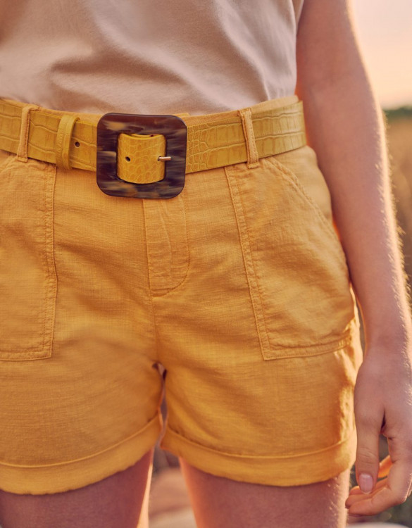 Ceinture Alexie - YELLOW CROCO