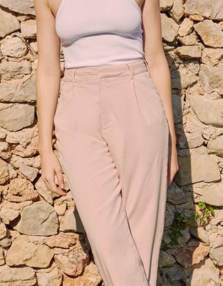 Chino high waist Ambre - ROSE SMOKE