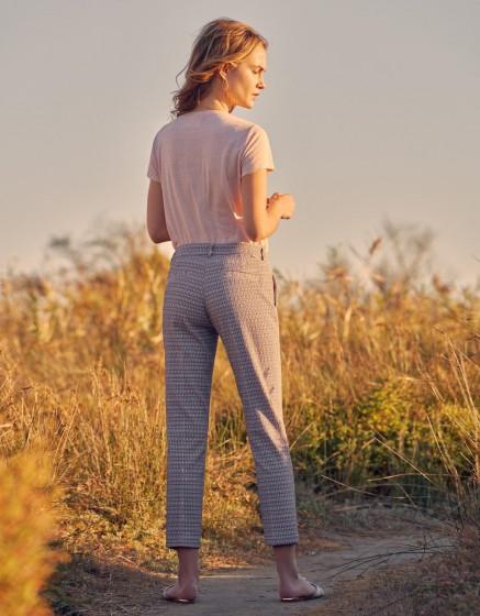 Pantalon cigarette Liv fancy - SEVENTIES FLOW