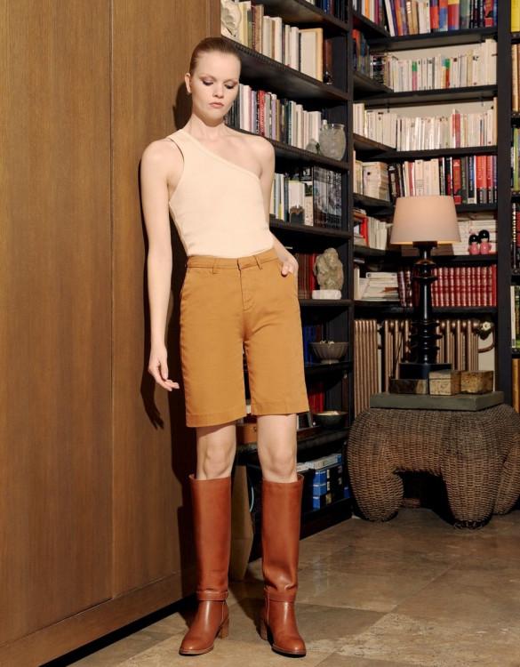 Bermuda shorts Suzon Lyocell - SANDSTONE
