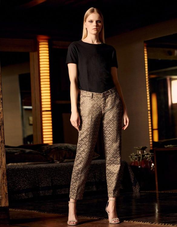 Cigarette trousers Liv Fancy - BAROQUE DAMASK