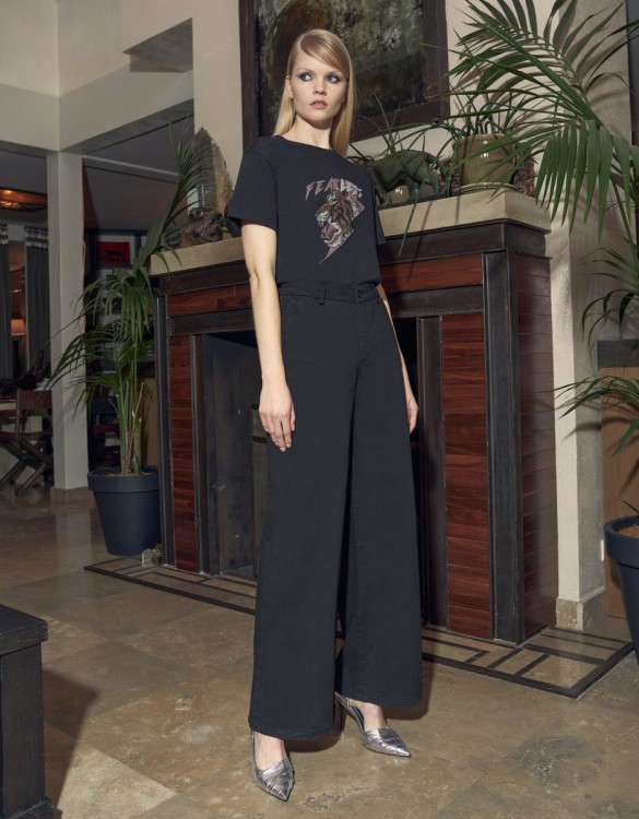 Wide trousers Pilly - BLACK
