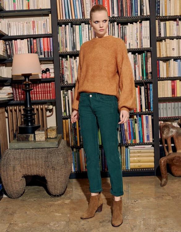 Boyfriend trousers Nina Velvet - VERT SAPIN