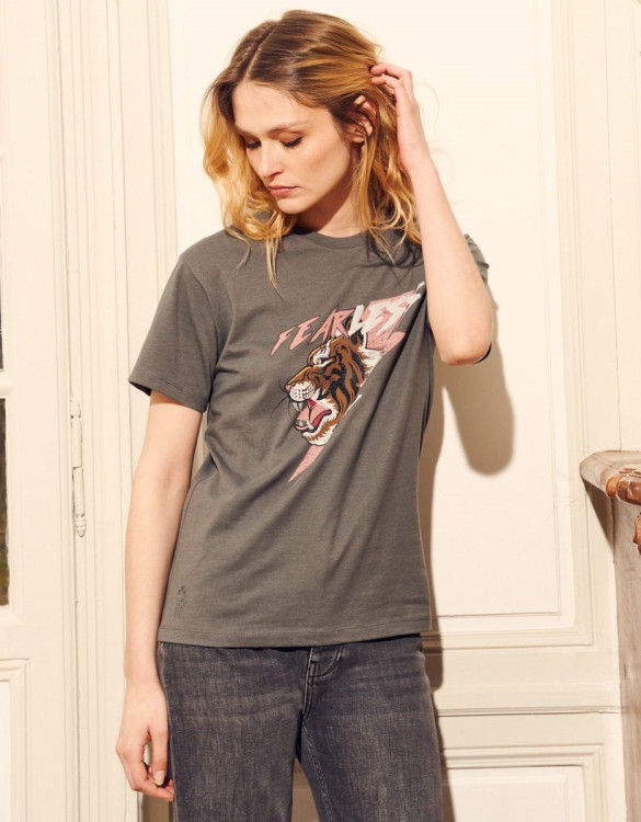 T-shirt Toby Print - CARBONE