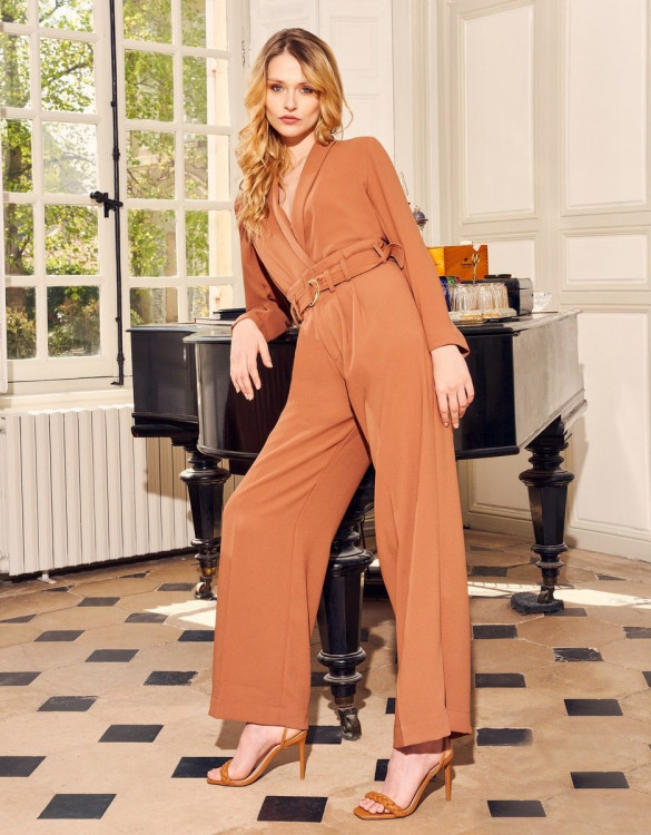 Wide trousers Gabby - FIRED BRICK