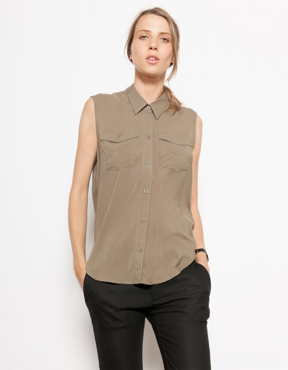 Flow shirt Cindy - VINTAGE KAKI
