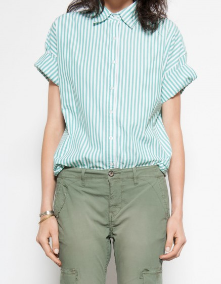 Chemise Cleo - STRIPES GREEN