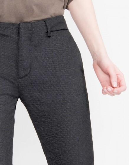 Cigarette Trousers Lizzy Fancy - SHADOW