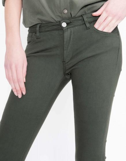 Pantalon skinny coloré Nelly - VERT BOUTEILLE